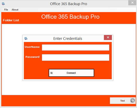 Export Office 365 Mailbox to PST Software - Home Screens
