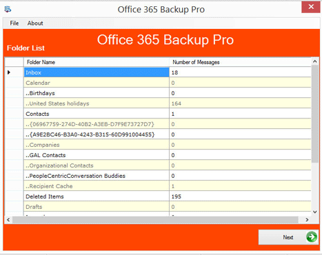 Export Office 365 Data to Outlook PSt file